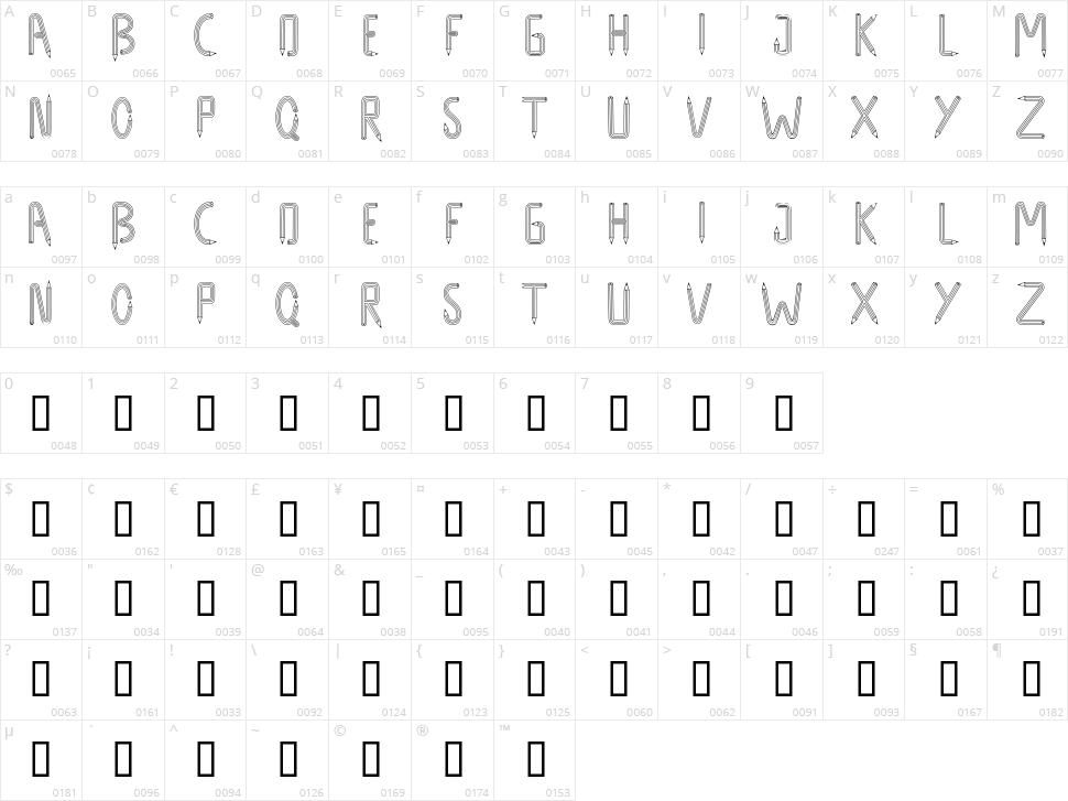 Design Design Character Map