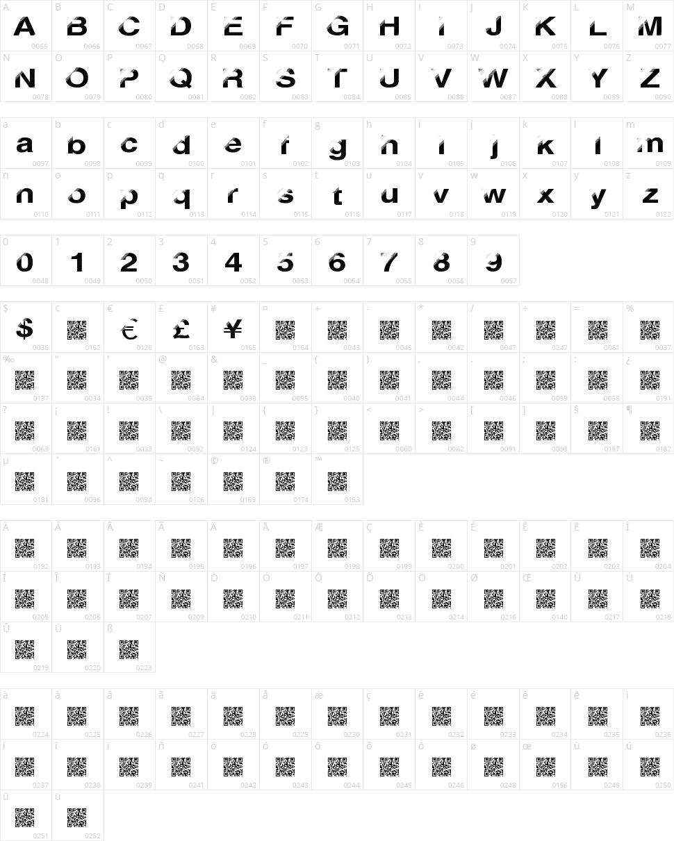 Disco Break Character Map