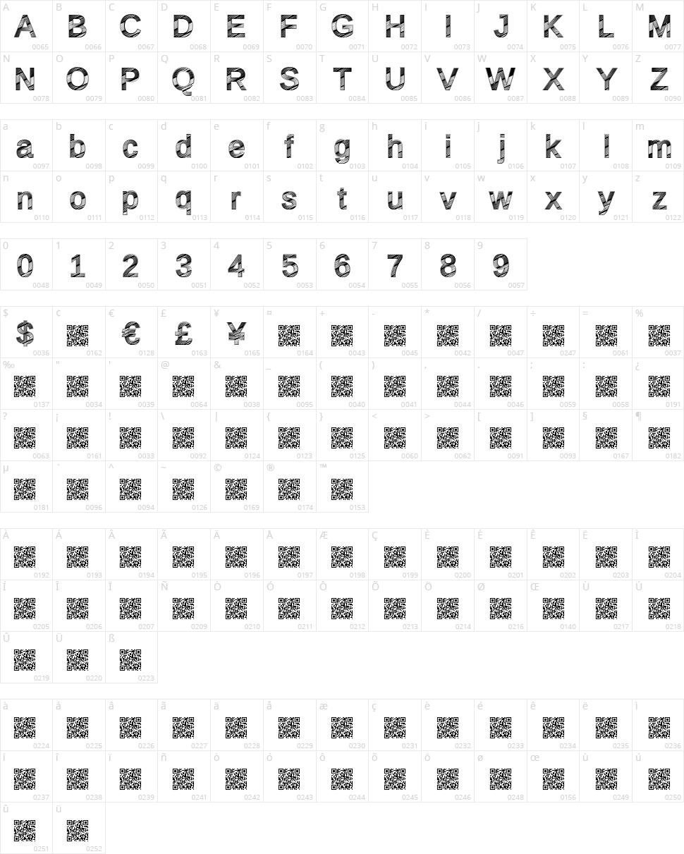 Disco Fresca Character Map