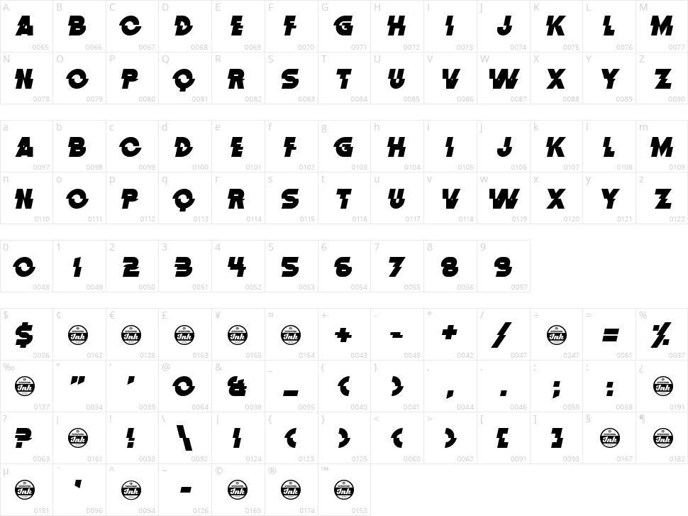 Distortion Dos Analogue Character Map
