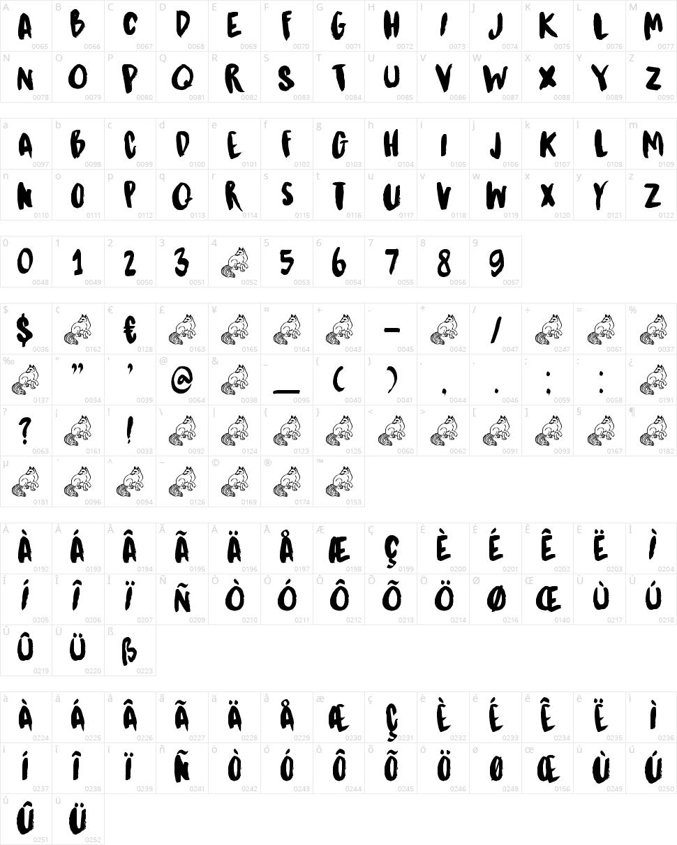 DK Kitsune Tail Character Map