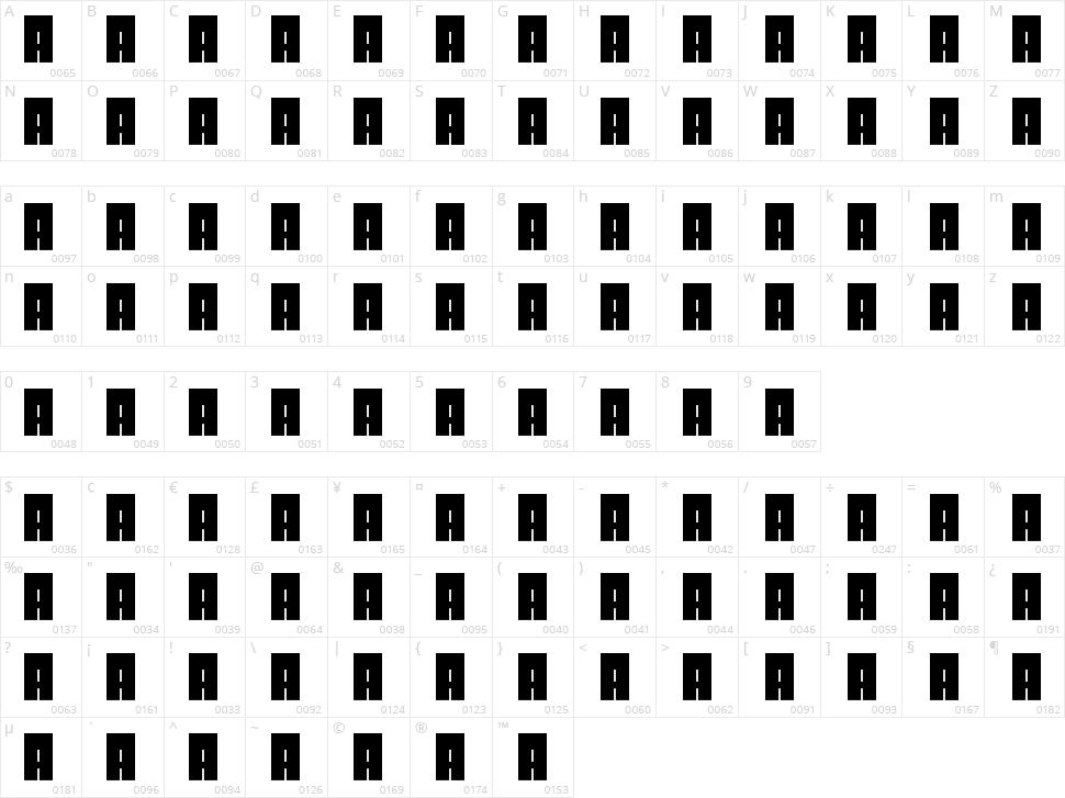 Dolgun Character Map