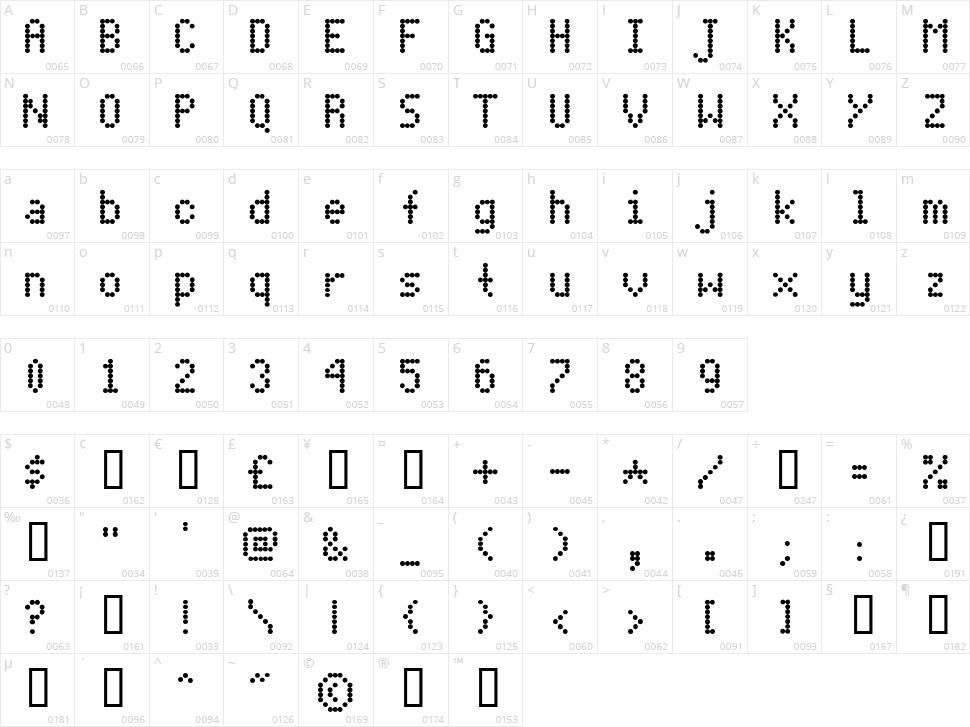 Dot Matrix Font Free Download