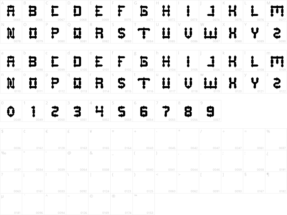 Drako Heart Character Map