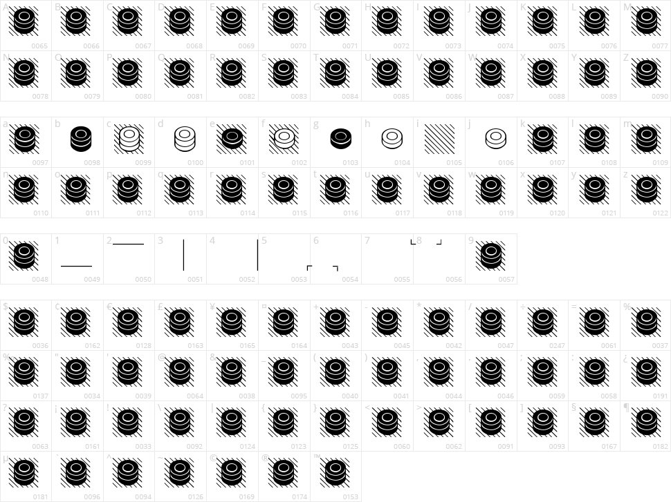 Draughts Ultrecht Character Map