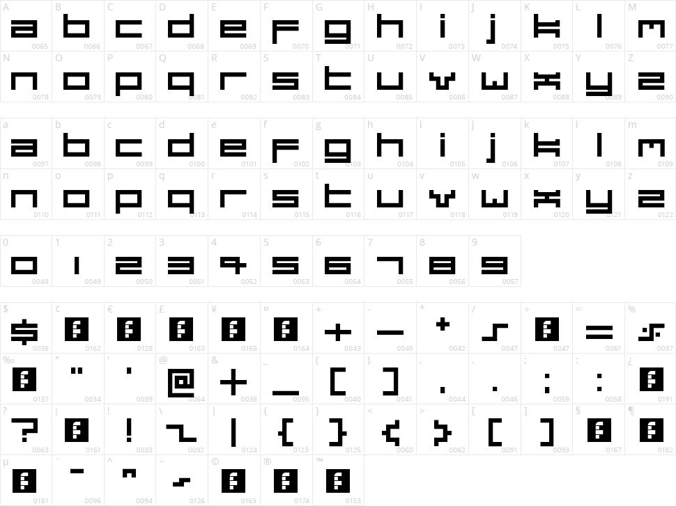 Dubsteptrix Character Map