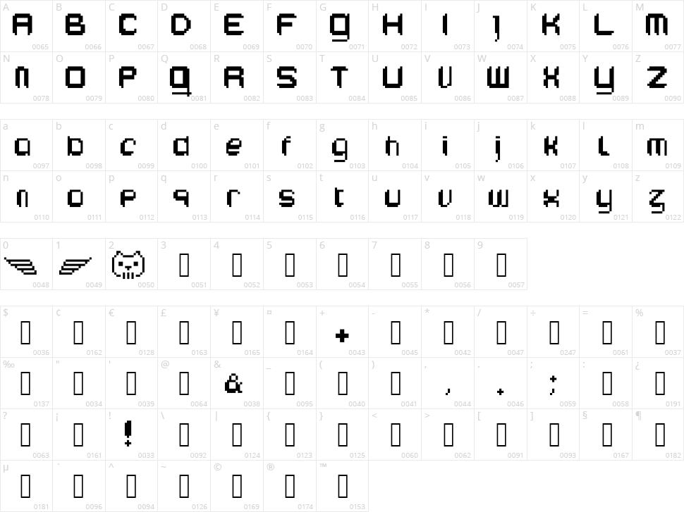 Edeka Supertoll Character Map