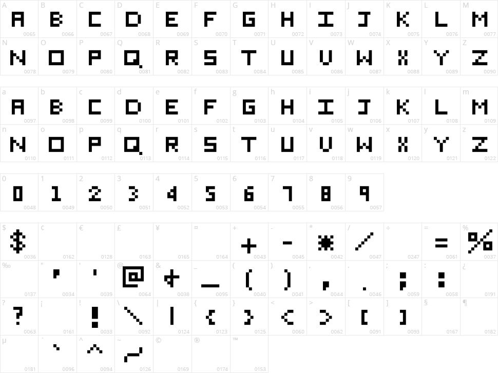 Eichante Character Map