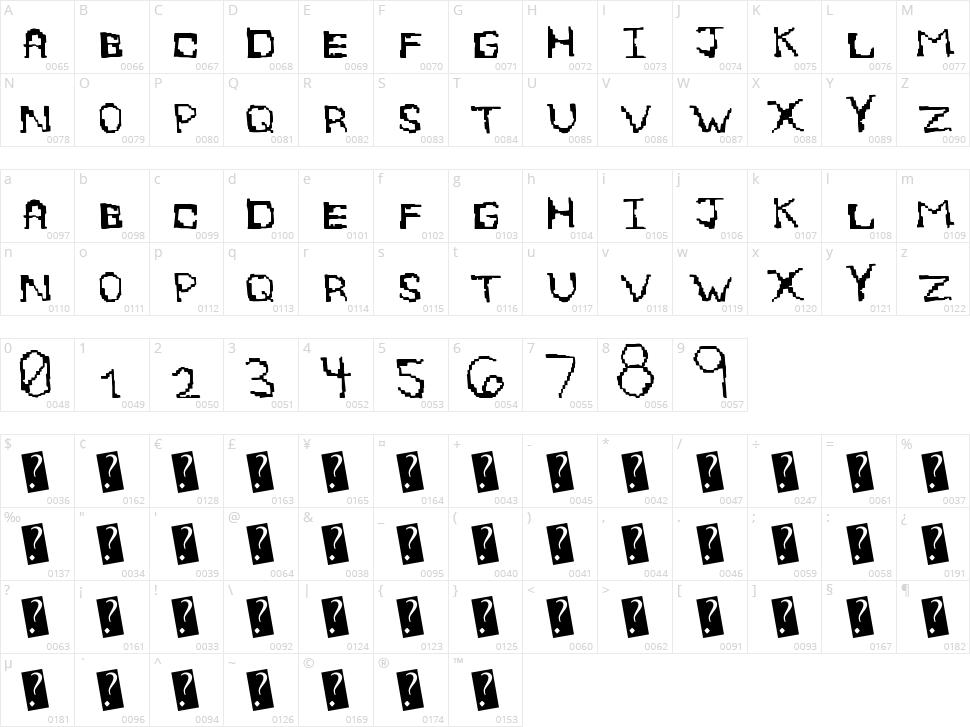 EightBite Character Map