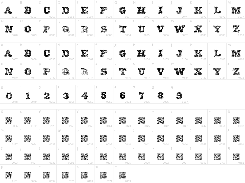 Eighty One Character Map
