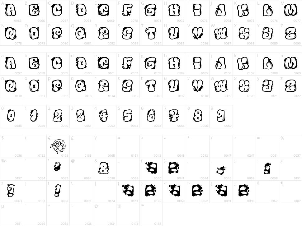 El&Font Bubble Character Map