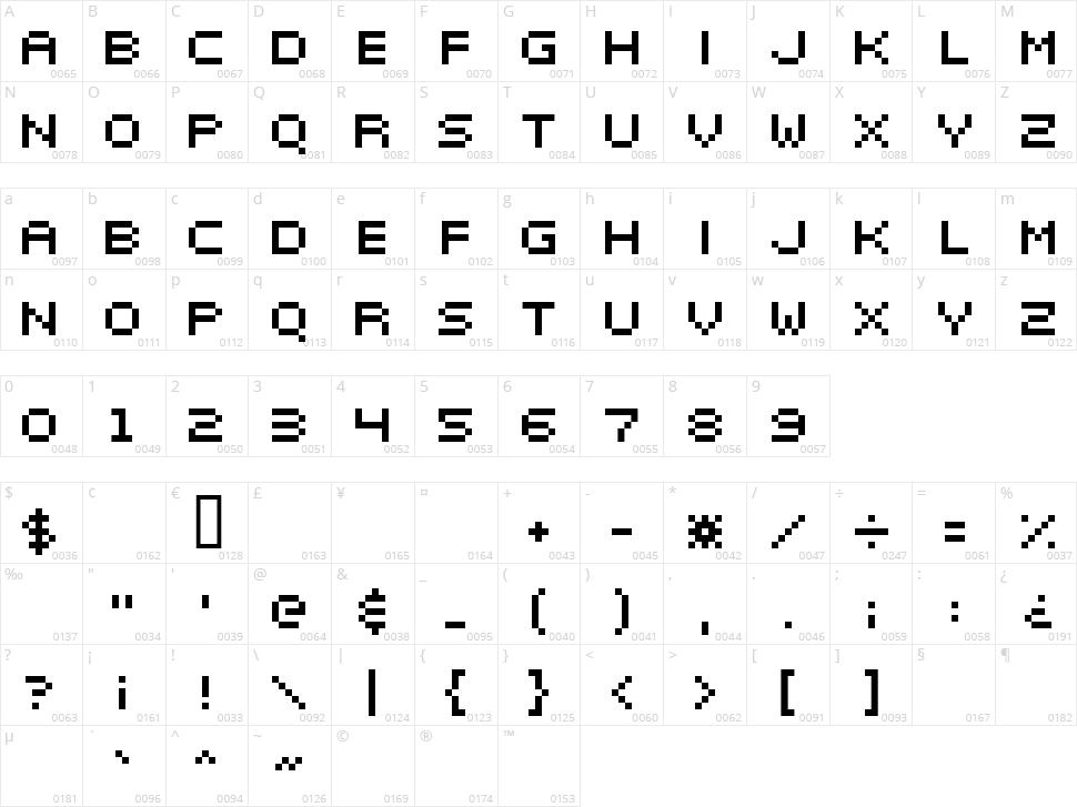 Elektr_02_5 Character Map