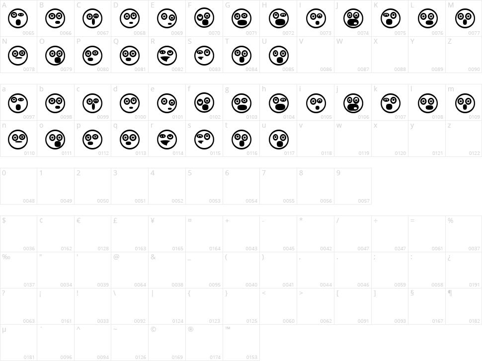 Emoji Boom Character Map