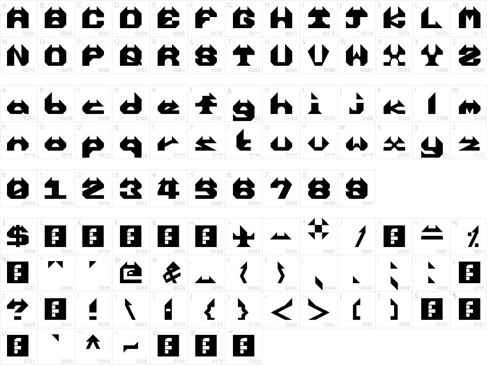 Enrealhorns Character Map