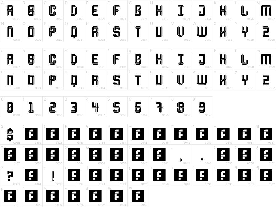 Escheresk Character Map