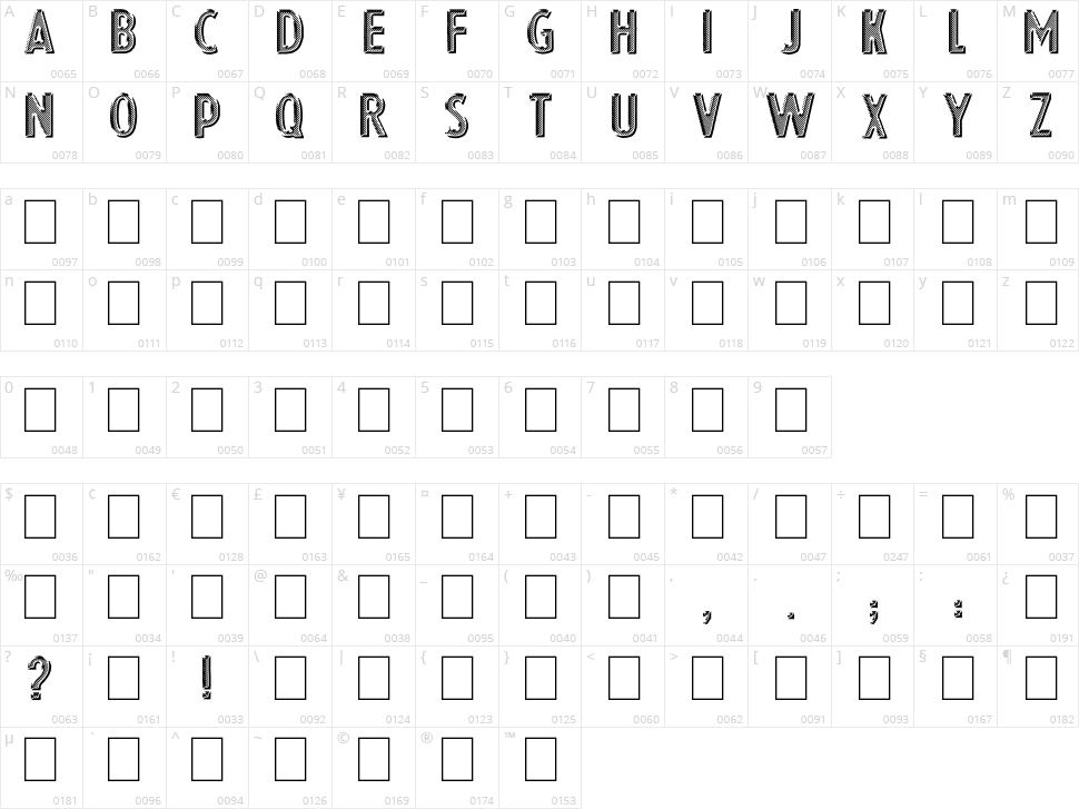 Eshop Advert Character Map