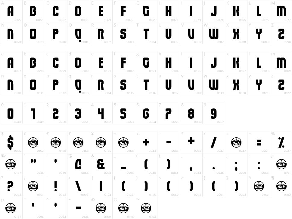 Eviscera Character Map