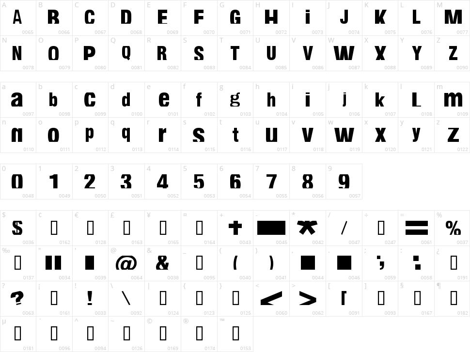 Fabianestem Character Map