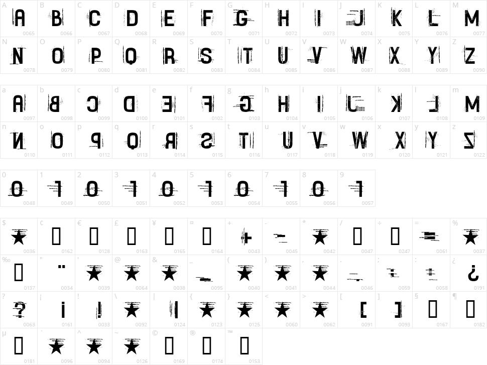 Fayettenam Character Map