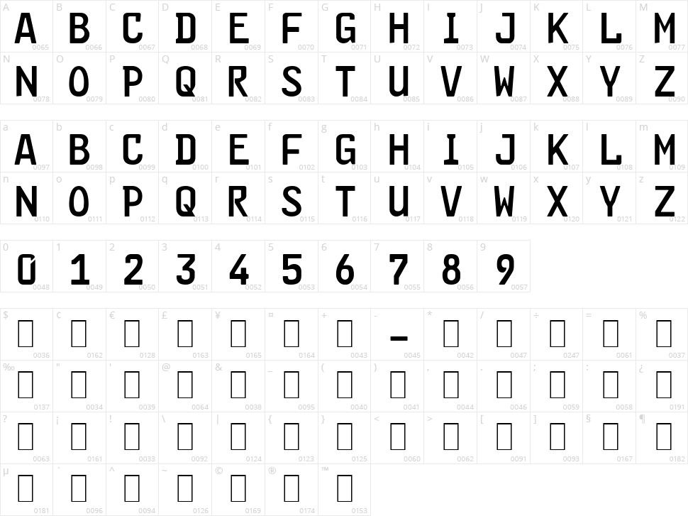 FE-Font Character Map