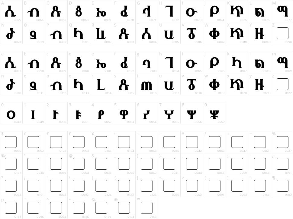 Fhokki Character Map