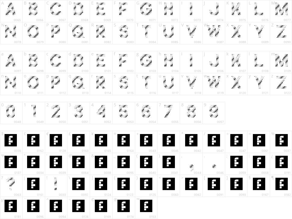 Foilness Character Map