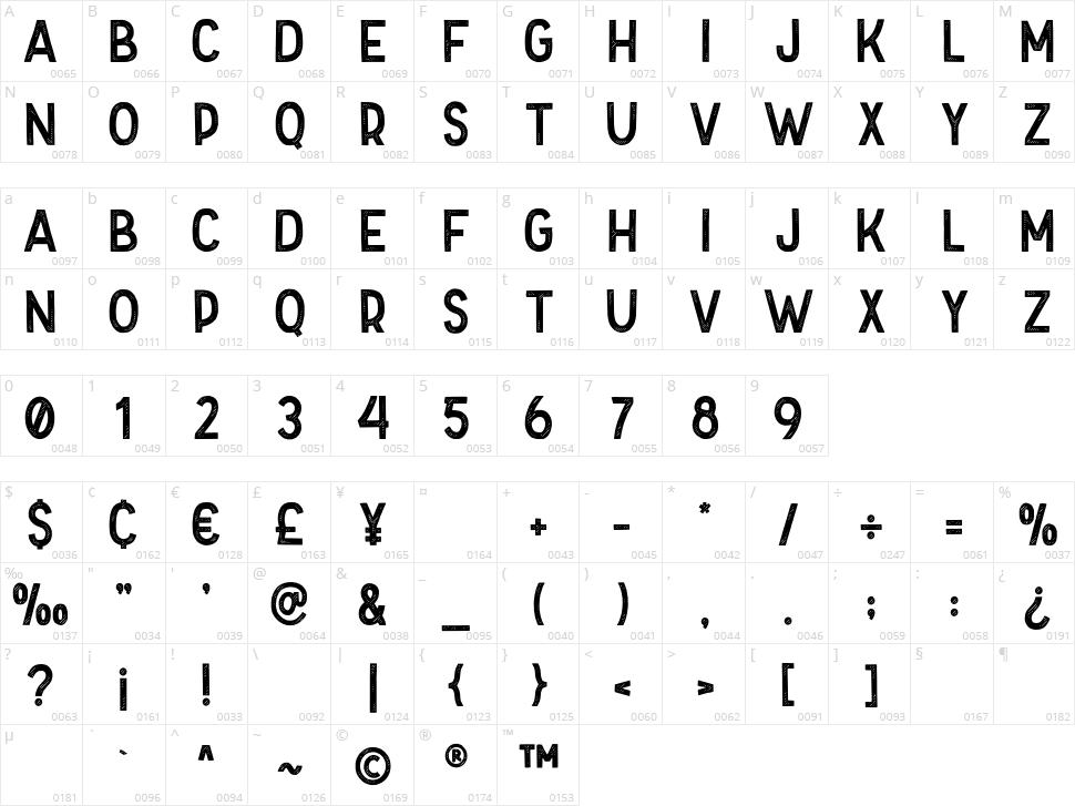 Folkner Character Map
