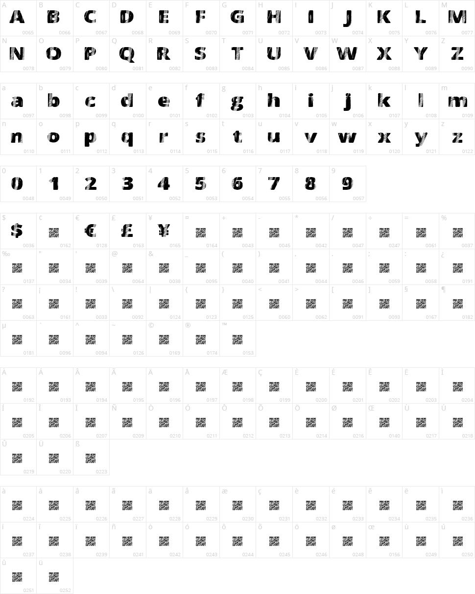 FourSix Character Map