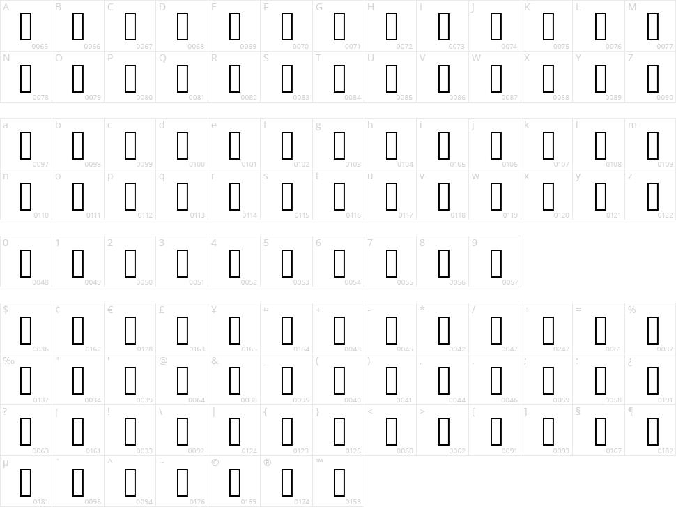 Frameswari Character Map