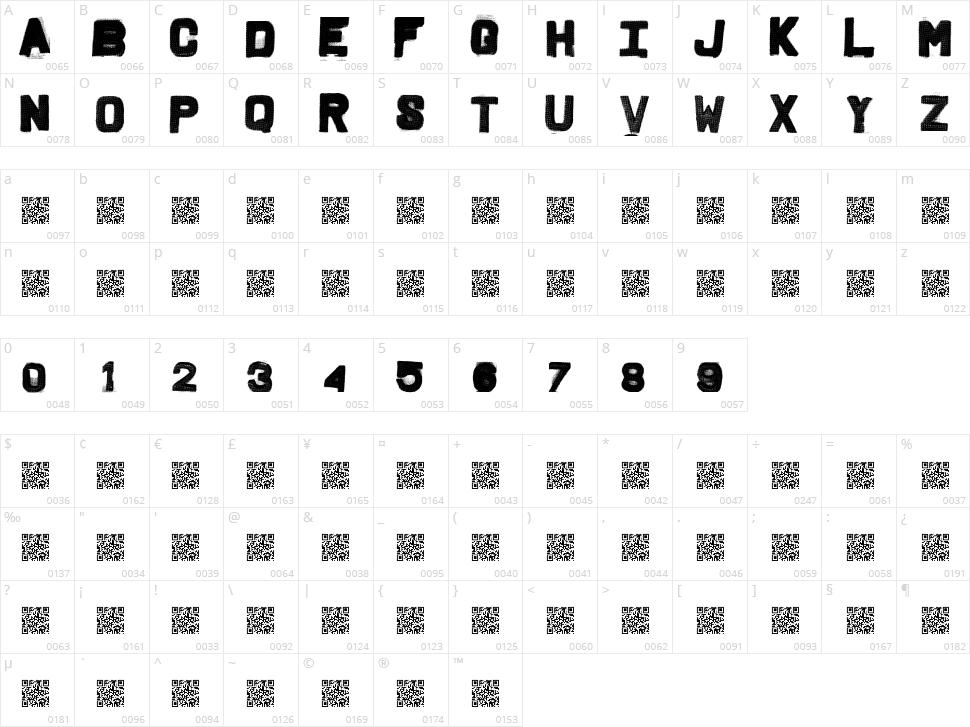 Fridge Letters Character Map