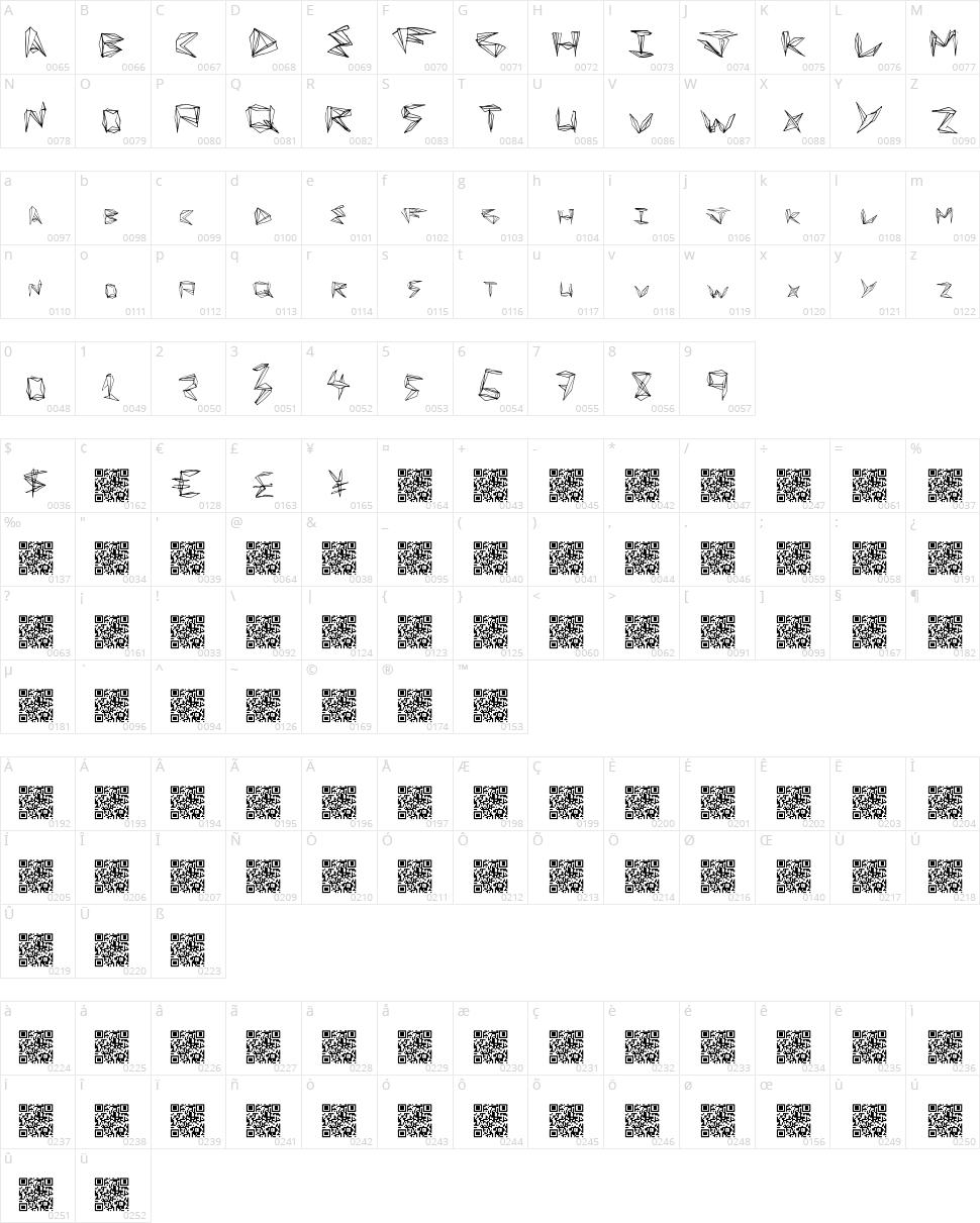 Fun Origami Character Map
