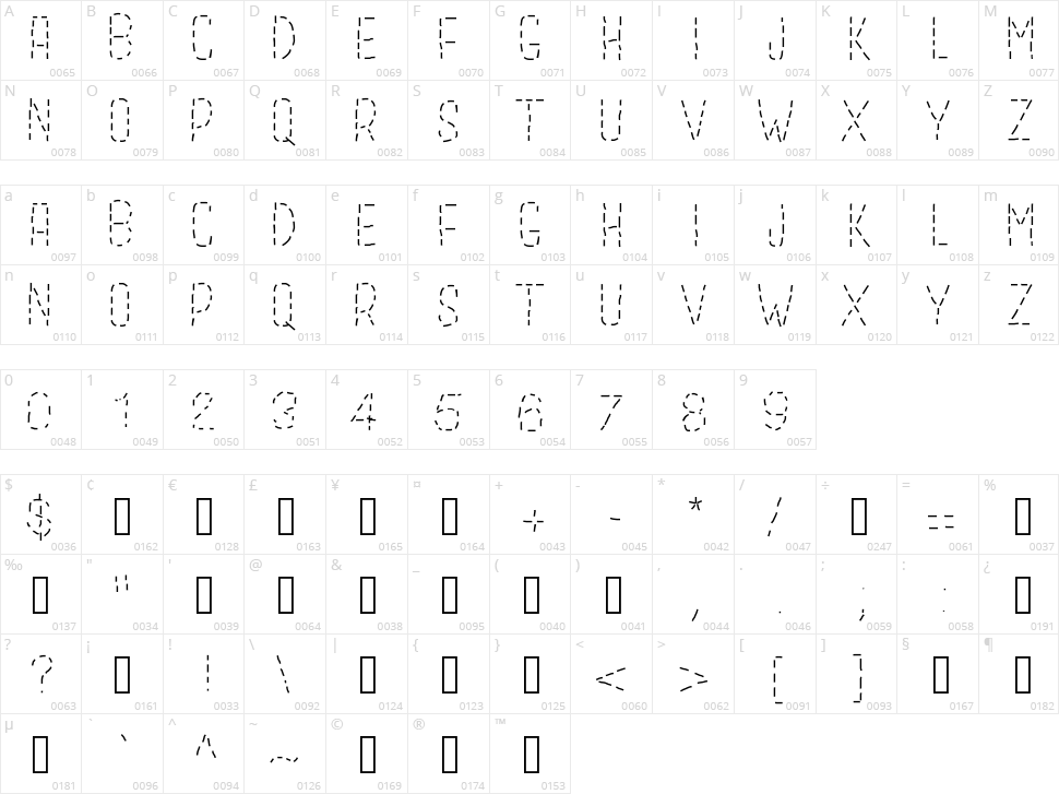 Gaelle Abc Character Map