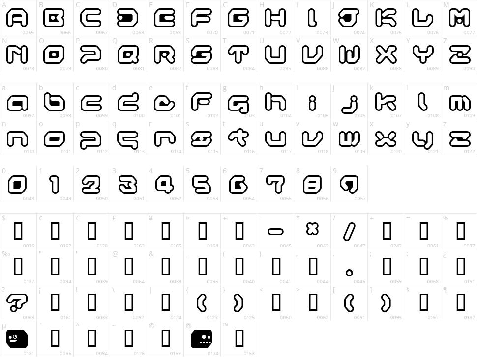 Gameboy Gamegirl Character Map