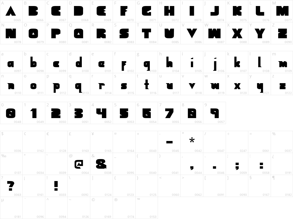 Geometric Black Character Map