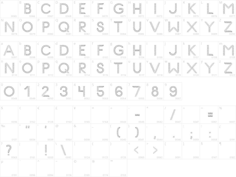 Glyph Stitch Character Map