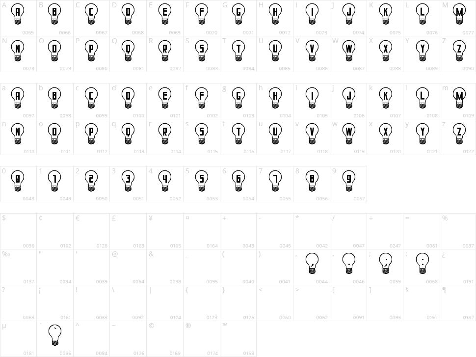 Good Idea St Character Map
