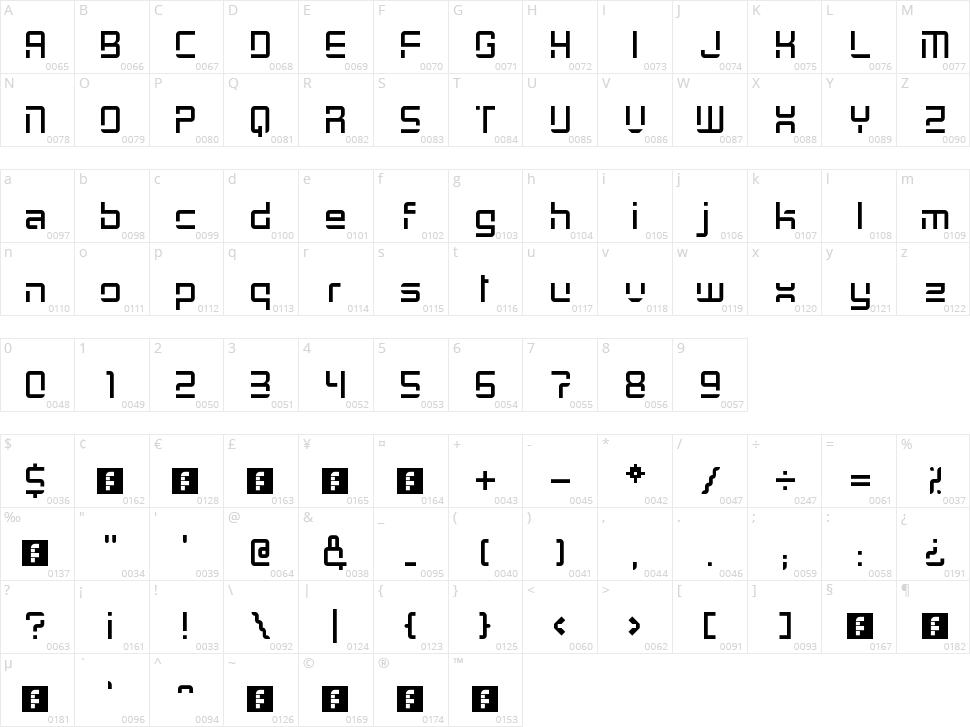 GrayCat Character Map