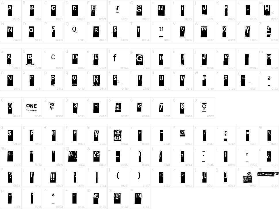 Gubben I L Character Map