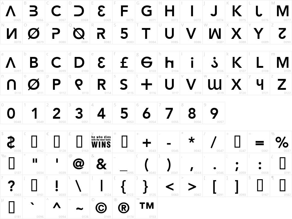 Hacker Argot Character Map