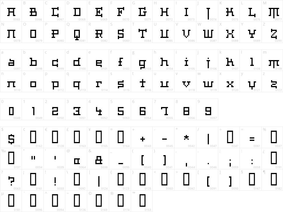 Haiku Character Map