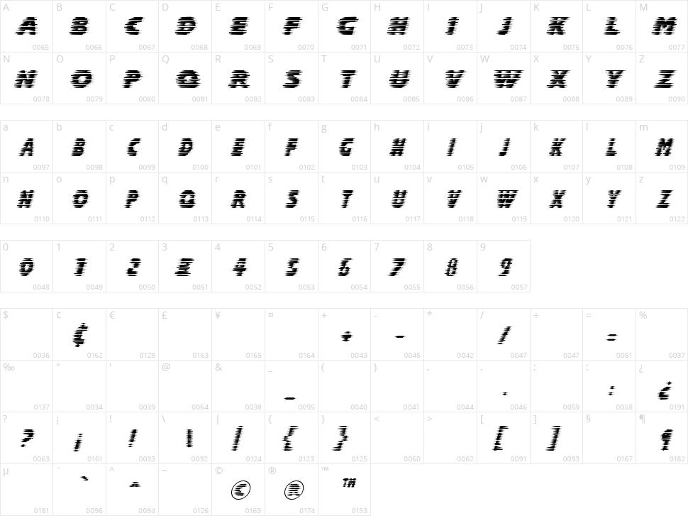 Halcion Character Map