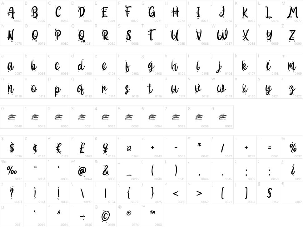 Hallo White Character Map