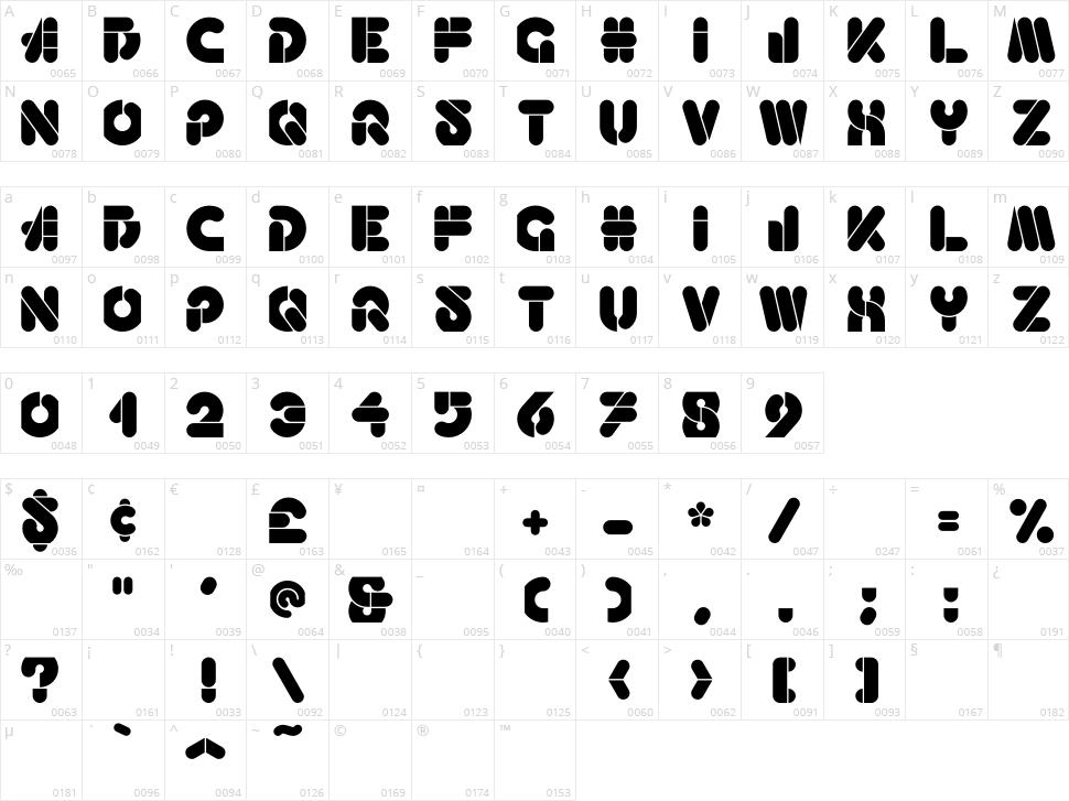 Haricot Character Map
