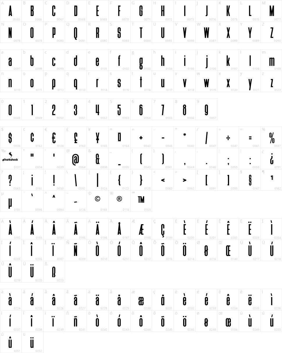 Heathergreen Character Map