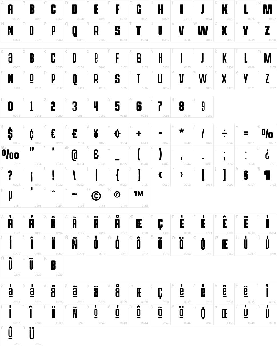 Hermanoalto Unicase Character Map