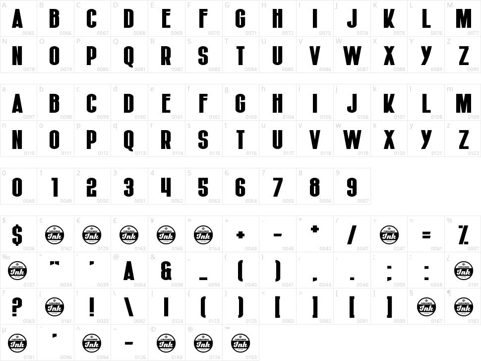 Hiruleon Character Map