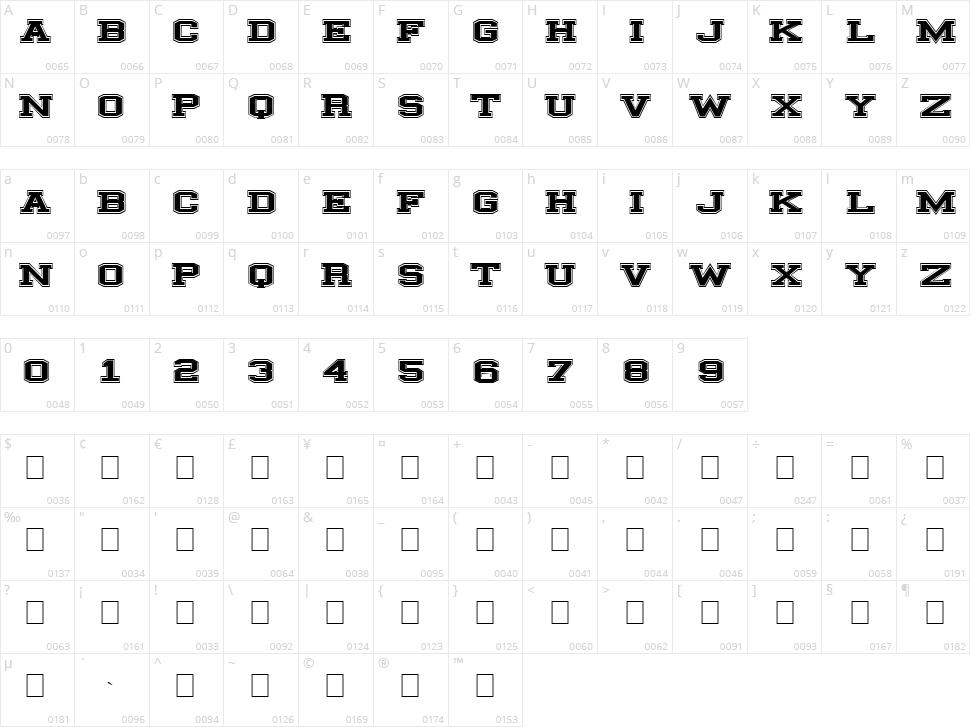 Illinois Block Character Map