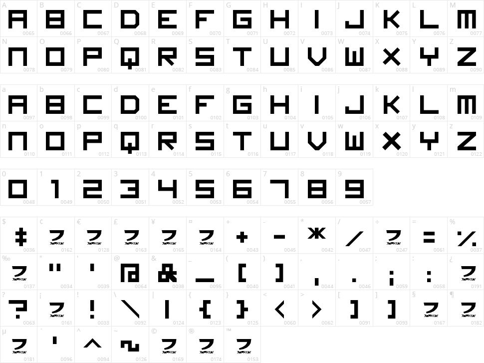 Imagine Font Character Map
