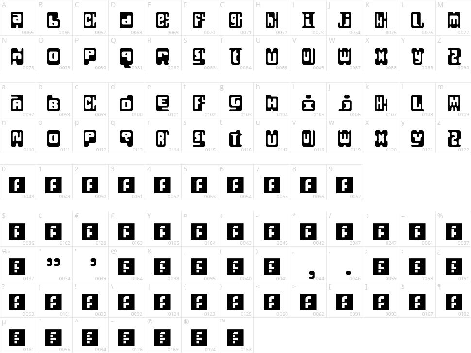 Infix Character Map