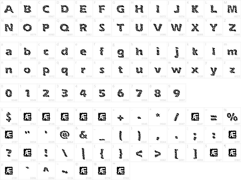 Ink Swipes BRK Character Map